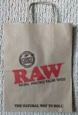 Five (5X) Raw Rolling Papers Paper Gift Grocery Tote Bags 420