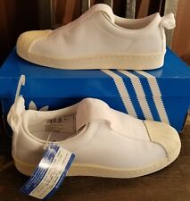 NEW AUTHENTIC ADIDAS ORIGINALS WOMEN'S SUPERSTAR BW3S SLIP-ON  SHOES US 10