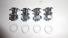 Ford Anglia 105E / 123E / 307E Flat Head Bumper bolts with gaskets  (per 4)