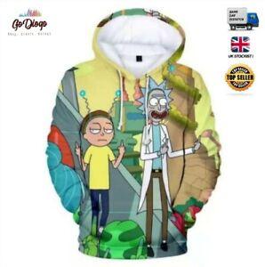 Rick & Morty Stylish Hoody - Small, Medium , Large , XL - UK Stockist & Seller ,