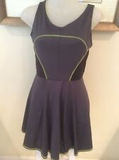 Lucky In Love Tennis Dress Small charcoal black neon green NWT $78