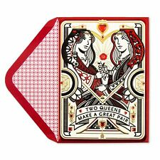 PAPYRUS Two Queens Valentine's Day Card - Royal Treatment - Queer Gay  $7.95