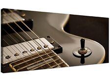 Black White Cheap Canvas Picture of Vintage Electrric Guitar 1125