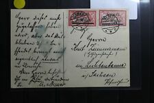 Memel 64 und 69 auf Postkarte als Mischfrankatur #BA709