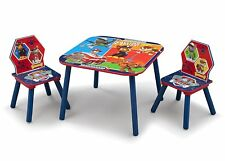 Paw Patrol Kids Table and Chairs Set Wooden Activity Playroom Furniture 3 Years
