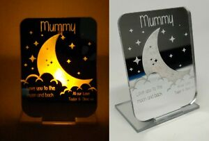 Tea Light Holder Candle Love You to the Moon Mother's Day Birthday Gift for Mum
