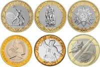 ✔ Russia 10 rubles 2010 2015 55 60 70 75 Years of Victory in WWII 10 rubles UNC