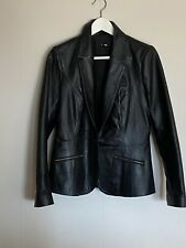 Capture Black Dress/ Blazer Style Leather Jacket Size 10 AS NEW
