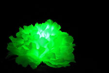 (3) Light-up Green LED Clips for Hair, Glow in Dark, 420 Giveaway, St Pattys