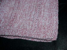 "Handmade knit Baby blanket throw lap wheelchair afghan 24' x 27"""