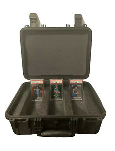 Large Hard Case For PSA BGS Graded Cards - Heavy Duty Waterproof Storage Box