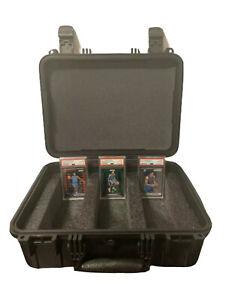 Large Hard Case For PSA BGS Graded Cards - Heavy Duty Waterproof Storage Box