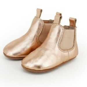 NEW SKEANIE Pre-Walker Leather Riding Boots Rose Gold. RRP $59.95