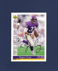 Roger Craig signed Minnesota Vikings 1993 Upper Deck football card