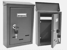 DKB Briefkasten Postkasten Zeitungskasten Silber Grau 305 x 210 x 60 mm   1145