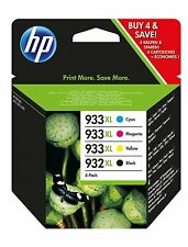 Original HP 932XL Black + HP 933XL Cyan Magenta Yellow Ink Multi Combo 4 ink Set