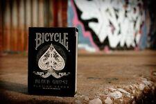 CARTE DA GIOCO BICYCLE BLACK GHOST prima edizione,poker size,by Ellusionist