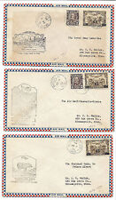 Canada FFC First Flight Cover Lot of 3 - 1932 - Roessler - NWT, Sask, Quebec*