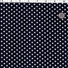 "COTTON CLOTH NECKTIE CURTAIN DRESS SHIRTS FABRIC TINY 5mm WHITE STAR NAVY 44""W"