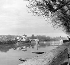 WWII Photo French Village Normandy D-Day Bridge   WW2 B&W World War Two / 8013