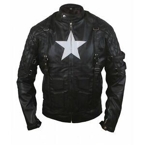 Marvel's Chris Evans Captain America Costume Leather Jacket