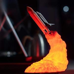 3D Print Space Shuttle Lamp | Rocket Night Light | Lights for Space Lover Rocket
