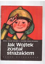 Cz Janczarski Jak wojtek został strażakiem Bocianowski Polish book for children