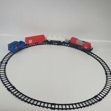VINTAGE 1976 DURHAM SANTA FE WIND UP LOCOMOTIVE FREIGHT TRAIN WITH TRACK #8809