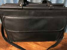 BLACK BRIEF CASE SATCHEL ZIPPERED BUSINESS BAG