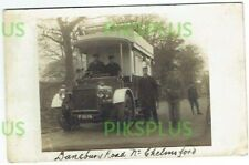 OLD POSTCARD G.E.R. MOTOR BUS DANBURY ROAD CHELMSFORD ESSEX REAL PHOTO USED 1905