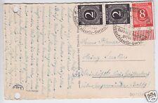 Bedarfskarte , Mi-Nr. Einheit 912(2) MiF 917 URSt, o Bad Tennstedt, 4.5.46