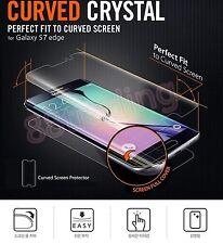 2 X Ajuste de curvas Completo Protector De Pantalla + Gel Estuche posterior para Samsung Galaxy S7 EDGE
