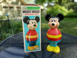 Vintage Mickey Mouse Stacking Toy Gabriel 1978