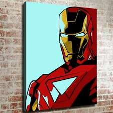 "12""x16""Iron Man Picture HD Canvas prints Painting Home decor Photo Room Wall art"