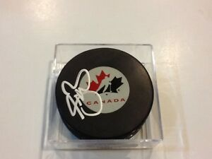 Sean Burke Signed Team Canada Hockey Puck Autographed a