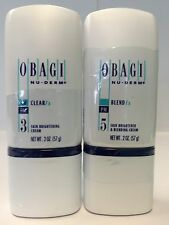 OBAGI NU-DERM CLEAR Fx and BLENDER Fx 2 oz Brand New Sealed Full Size
