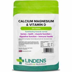 Lindens Calcium Magnesium & Vitamin D 120 Tablets; Osteo Formula - Bone Health