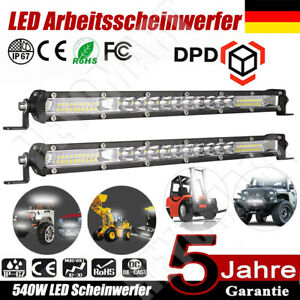 """12"""" 540W LED Arbeitsscheinwerfer Auto Offroad SUV Light bar Lichtbalken 12V DE"""