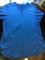 Danskin Now Dri More S (4-6) Short Sleeve Athletic Top T-Shirt Blue