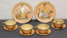 1937 Snow White Vintage Tin Tea Set - Walt Disney - Ohio Art Co. (10 pc set)