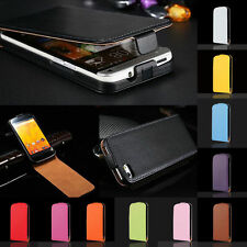 Magnetic Flip Genuine Real Leather Phone Case Cover For Apple iPhone & Nokia