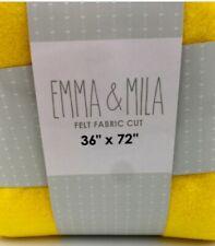 """New listing Emma & Mila Felt Fabric Cut Craft 36"""" x 72"""" Yellow"""