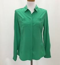 Orsay Top Shirt Small Womens Green Button Down Long Sleeve