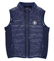U.S. Polo ASSN. Kinder Weste Jacke elastischen Seitenpartien Freizeit-Weste Blau