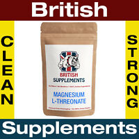 Clean Magnesium L-Threonate 640mg Veg Capsules British Supplements 1 Month Suppl
