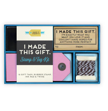 I Made This Gift Stamp & Tag Kit by Robert Mahar FOR HOMEMADE & HANDMADE GIFTS