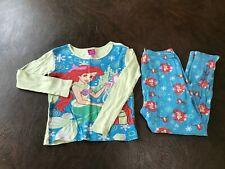 Disney Store Ariel Girl 3 PC Tight Fit Long Sleeve Pajama Tutu Set 5