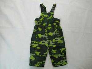 ROEBUCK&CO BRAND MILITARY OVERALLS CAMO FOR KIDS SIZE 2T YELLOW AND GREEN COLOR