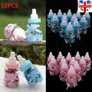Fillable Bottles for Baby Shower Favors Blue Pink Party Decorations Girl Boy