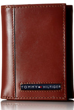 16pc Tommy Hilfiger Cambridge Tan Leather Credit Card Trifold Men's Wallet
